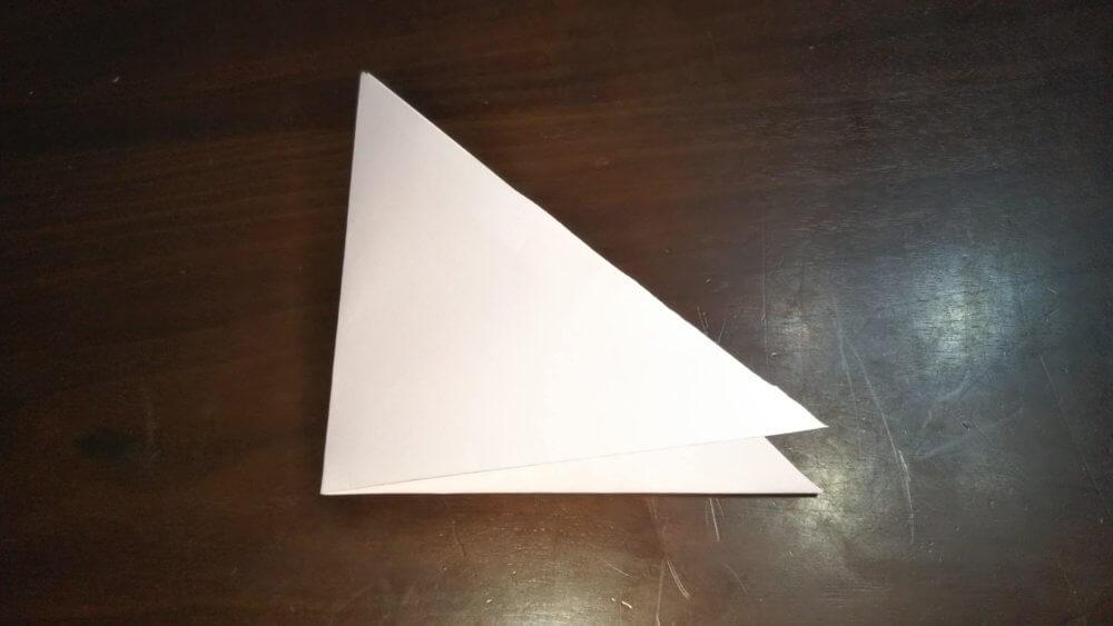 「平面カエルの顔」の簡単な折り方2