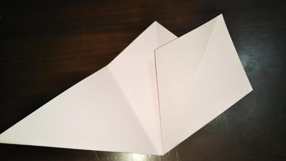 「平面カエルの顔」の簡単な折り方4