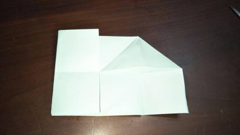 折り紙|おうち(家)の作り方5
