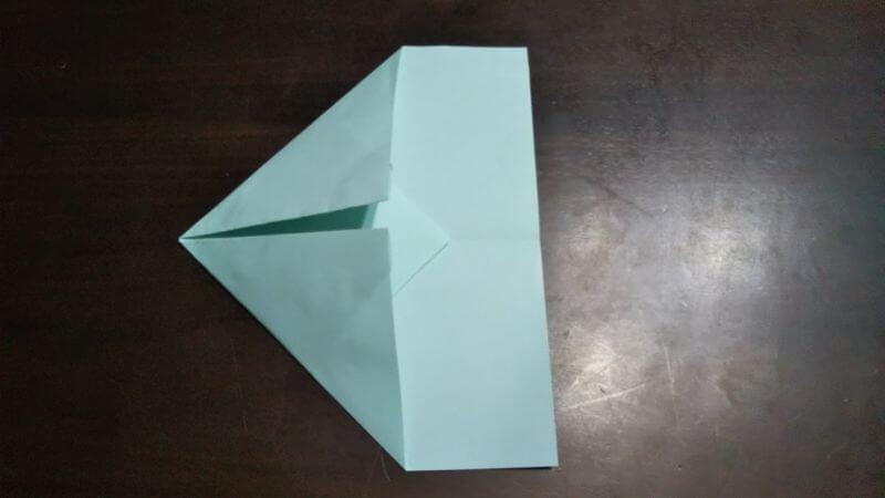 折り紙|へそ飛行機(紙飛行機)の作り方4