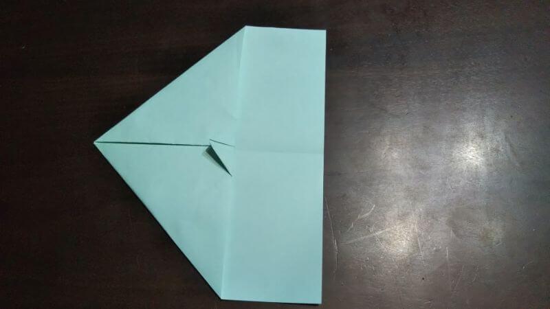 折り紙|へそ飛行機(紙飛行機)の作り方5