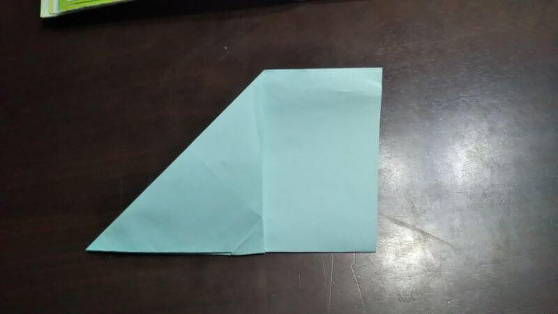 折り紙|へそ飛行機(紙飛行機)の作り方6
