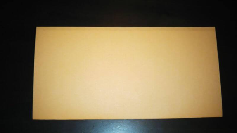折り紙|サンダルの折り方手順1