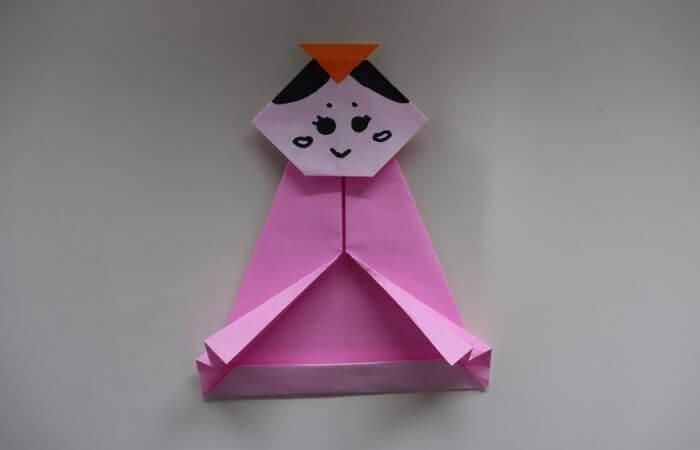 折り紙 雛人形 折り方19