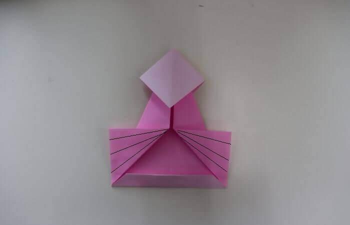 折り紙 雛人形 折り方17