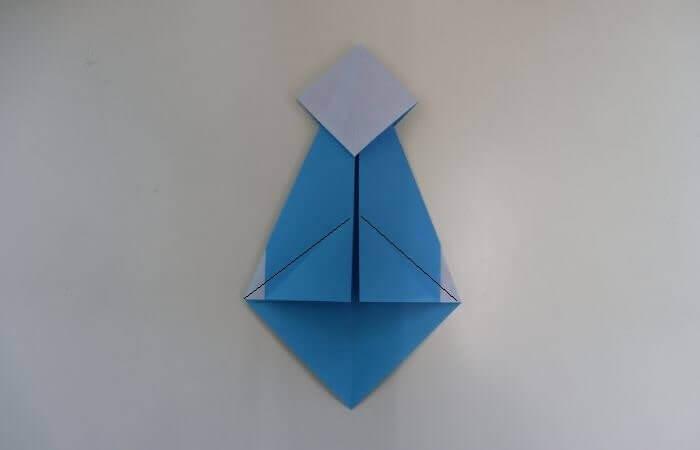 折り紙 雛人形 折り方11