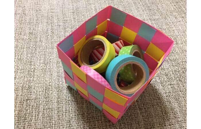 画用紙工作:手作り箱の作り方【活用例2】