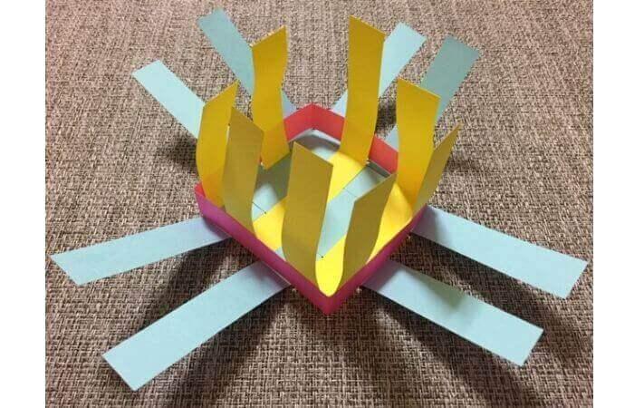 画用紙工作:手作り箱の作り方12