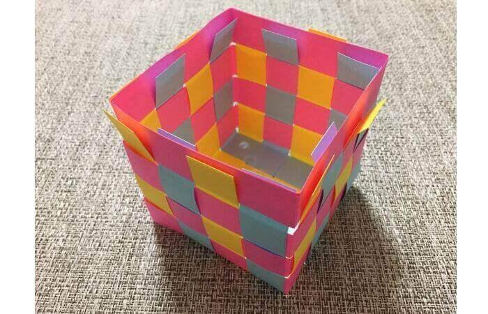 画用紙工作:手作り箱の作り方13