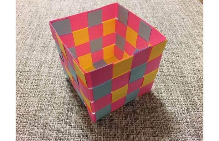 画用紙工作:手作り箱の作り方14