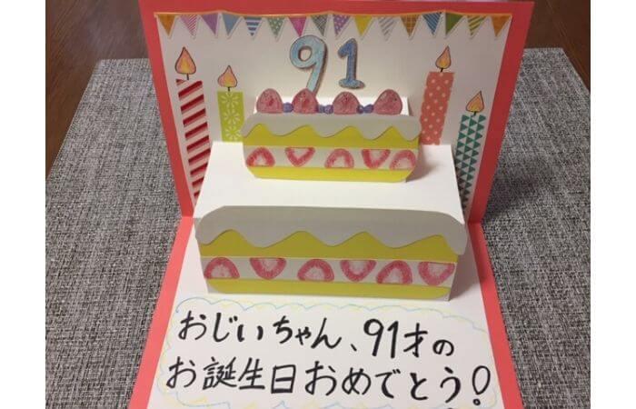 誕生日ケーキが飛び出すポップアップバースデーカード【ケーキのデコレーション】