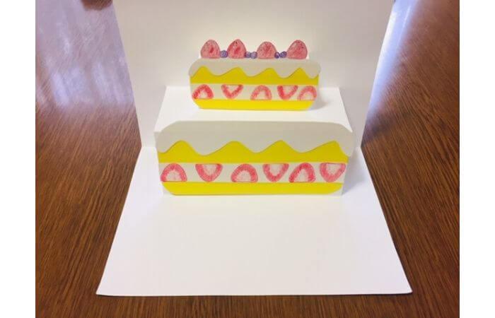 誕生日ケーキが飛び出すポップアップバースデーカードの作り方10