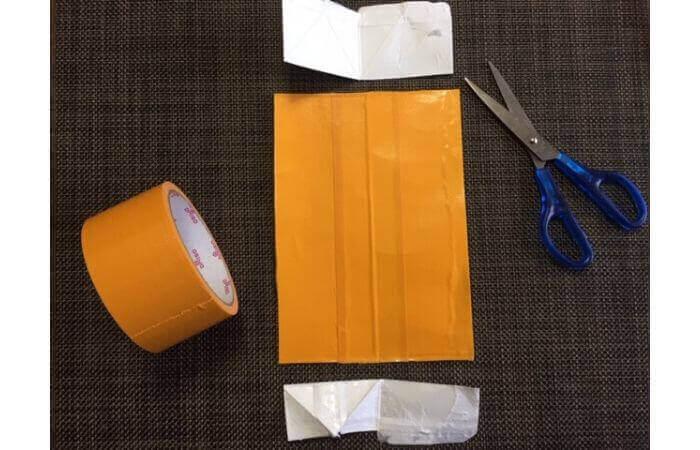 牛乳パック工作:輪ゴムで走る車の作り方2