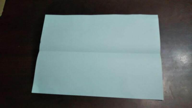 折り紙|へそ飛行機(紙飛行機)の作り方1