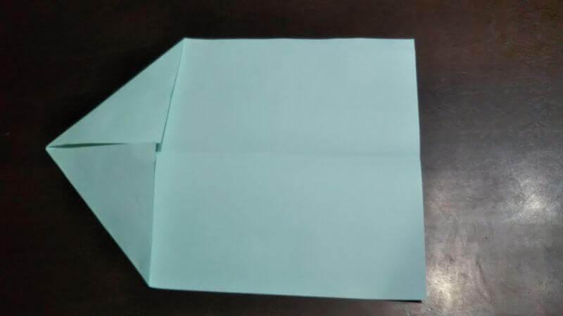 折り紙|へそ飛行機(紙飛行機)の作り方2