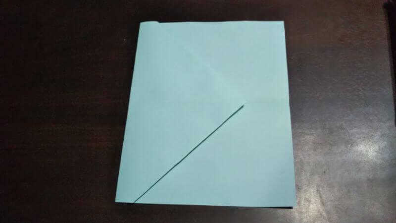 折り紙|へそ飛行機(紙飛行機)の作り方3