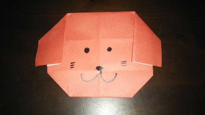 折り紙|かわいい「犬のポチ袋」の折り方11