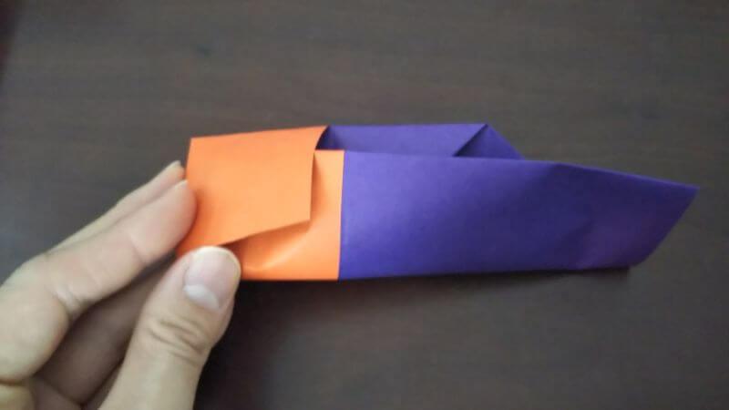 折り紙『かわいい魚の箸袋』の折り方7