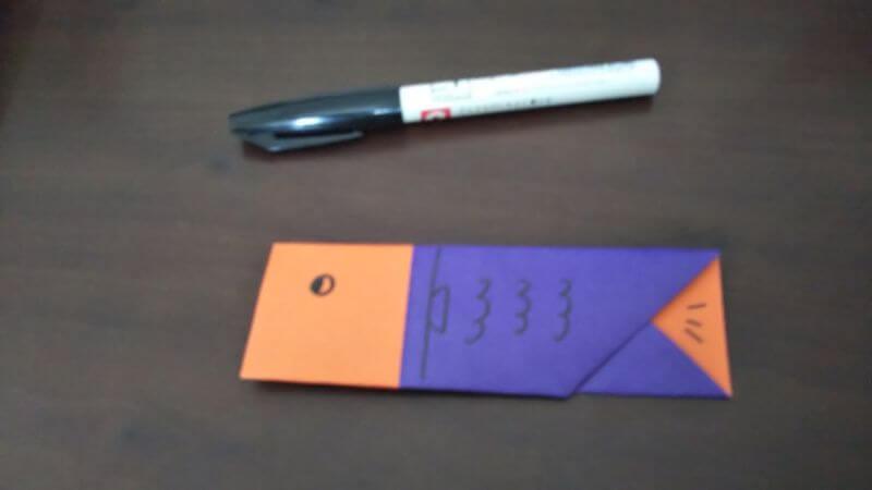 折り紙『かわいい魚の箸袋』の折り方9