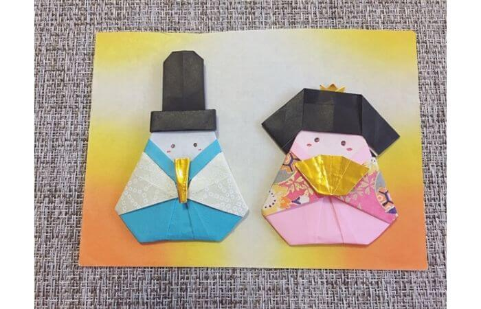 雛人形の折り紙の折り方【飾り方例1】