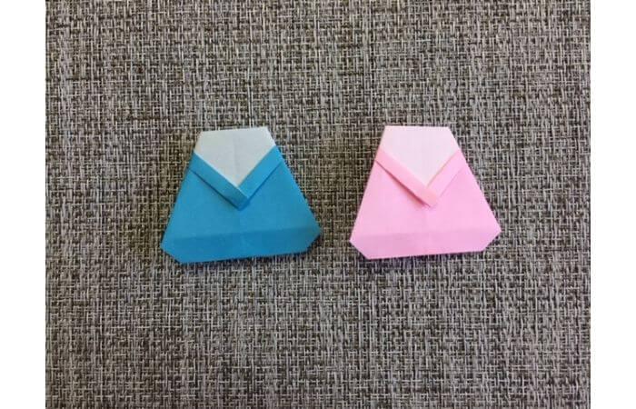 雛人形の折り紙の折り方【からだ(土台)13】