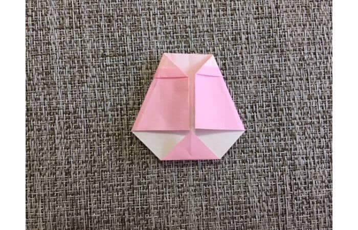 雛人形の折り紙の折り方【からだ(土台)10】
