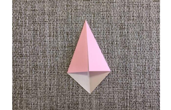 雛人形の折り紙の折り方【からだ(土台)2】