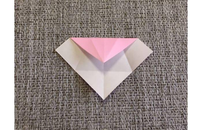 雛人形の折り紙の折り方【からだ(土台)4】