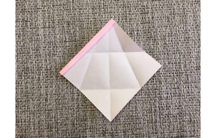 雛人形の折り紙の折り方【からだ(土台)5】