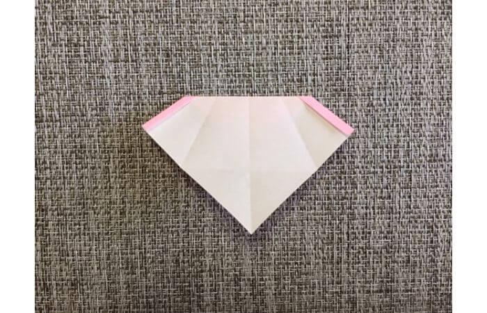 雛人形の折り紙の折り方【からだ(土台)7】