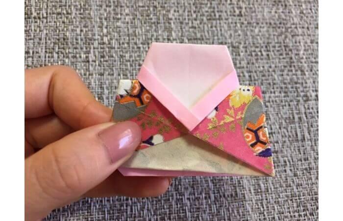 雛人形の折り紙の折り方【合体1】