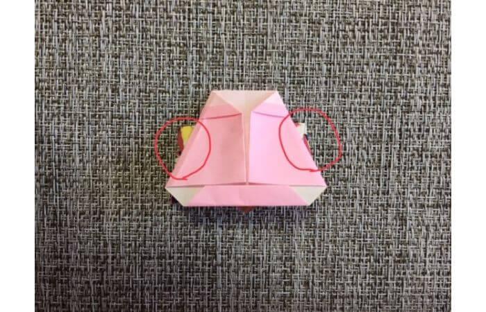 雛人形の折り紙の折り方【合体2】