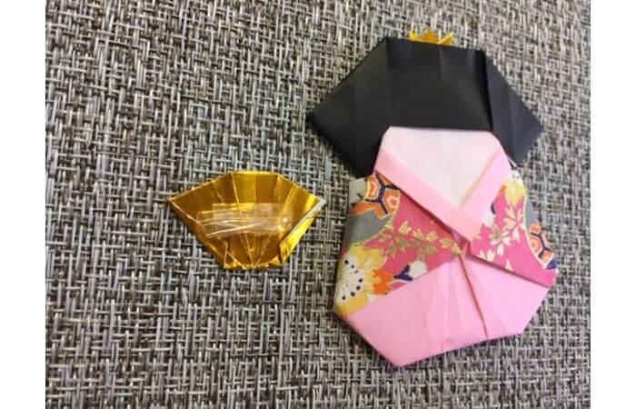 雛人形の折り紙の折り方【合体8】