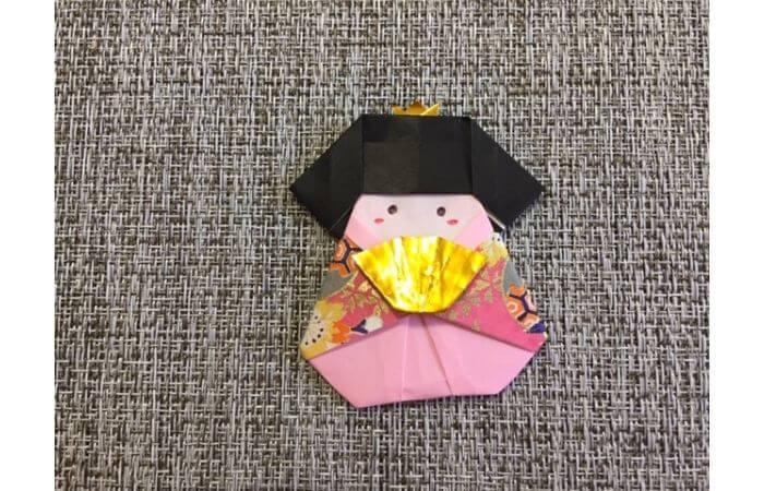 雛人形の折り紙の折り方【合体9】