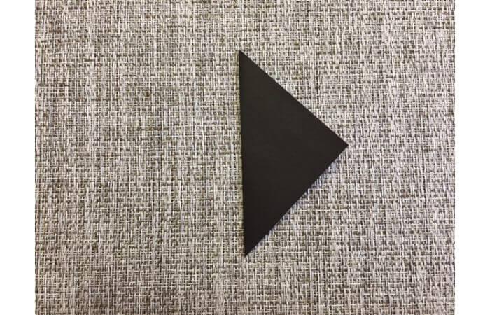 雛人形の折り紙の折り方【お雛様の頭1】