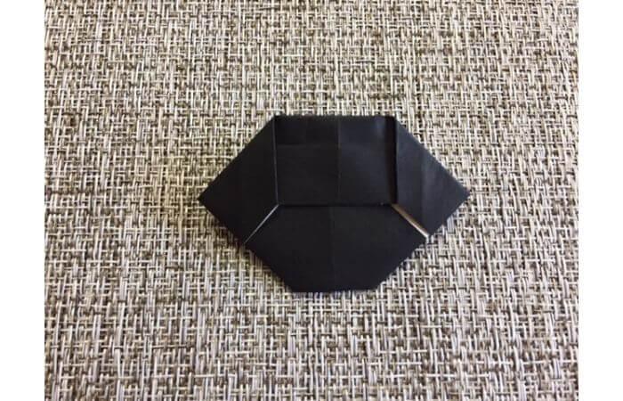 雛人形の折り紙の折り方【お雛様の頭13】