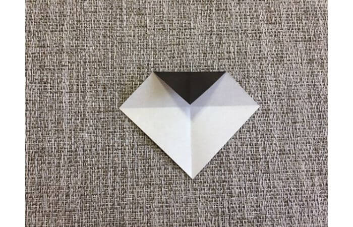 雛人形の折り紙の折り方【お雛様の頭3】