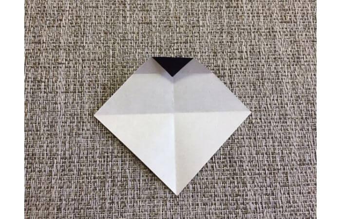 雛人形の折り紙の折り方【お雛様の頭4】