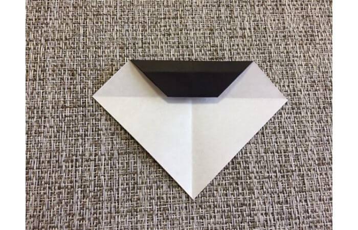 雛人形の折り紙の折り方【お雛様の頭5】
