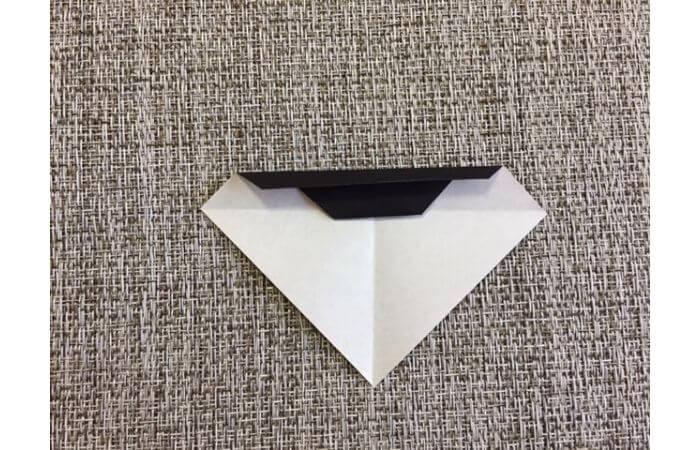 雛人形の折り紙の折り方【お雛様の頭6】