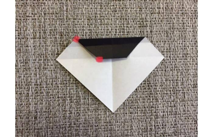 雛人形の折り紙の折り方【お雛様の頭7】