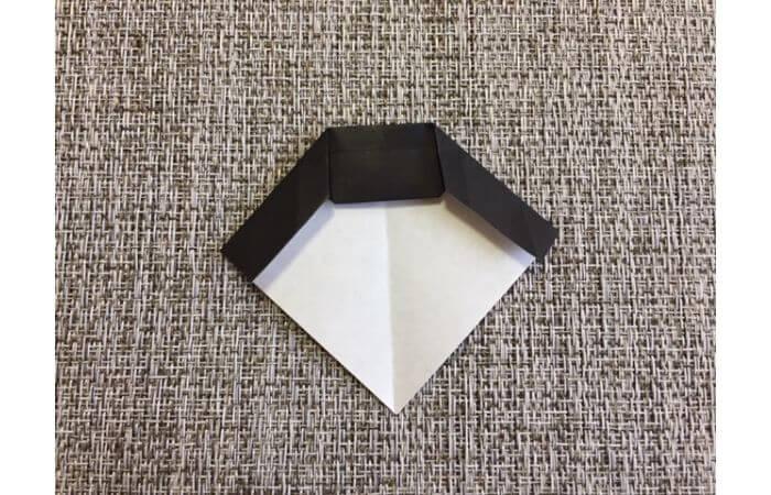 雛人形の折り紙の折り方【お雛様の頭8】