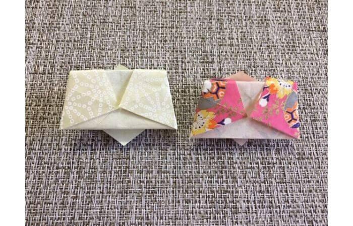 雛人形の折り紙【簡単な着物の折り方12】