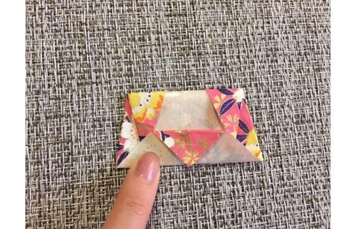 雛人形の折り紙【簡単な着物の折り方10】