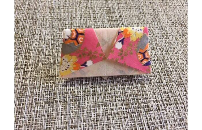雛人形の折り紙【簡単な着物の折り方11】