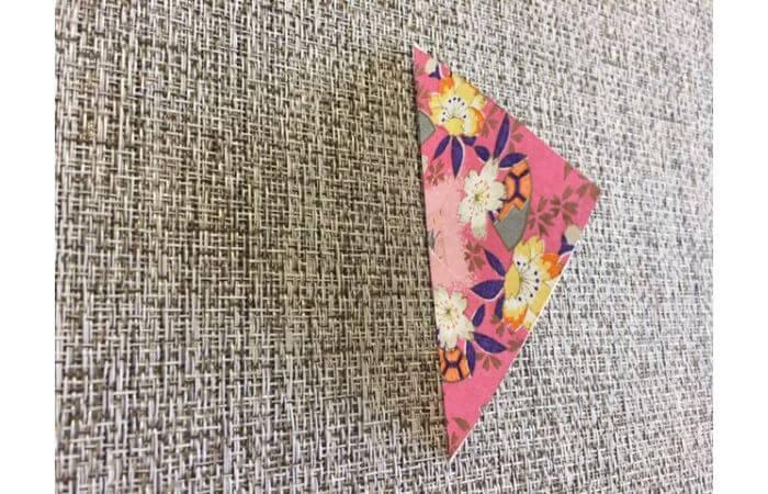雛人形の折り紙【簡単な着物の折り方2】