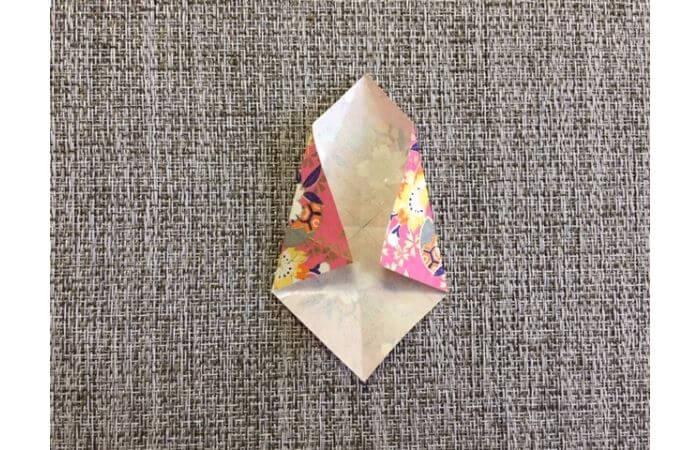 雛人形の折り紙【簡単な着物の折り方6】