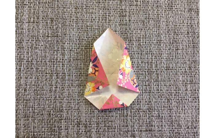 雛人形の折り紙【簡単な着物の折り方7】