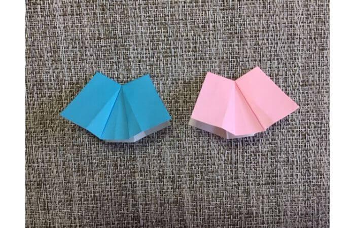 雛人形の折り紙【簡単な着物(下)の折り方11】