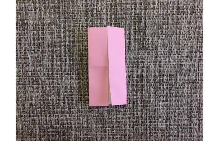 雛人形の折り紙【簡単な着物(下)の折り方4】